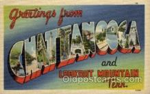 LLT100826 - Chattanooga, Tennessee Large Letter Town Towns Post Cards Postcards