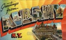 LLT100827 - Albany, New York Large Letter Town Towns Post Cards Postcards