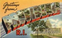 LLT100828 - Providence, Rhode Island Large Letter Town Towns Post Cards Postcards