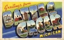LLT100830 - Battle Creek, Michigan Large Letter Town Towns Post Cards Postcards