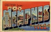LLT100831 - Memphis, Tennessee Large Letter Town Towns Post Cards Postcards