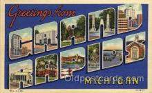LLT100836 - Grand Rapids, Michigan Large Letter Town Towns Post Cards Postcards