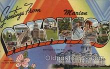 LLT100837 - Marion, Arkansas Large Letter Town Towns Post Cards Postcards