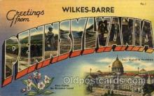 LLT100838 - Wilkes-Barre, Pennsylvania Large Letter Town Towns Post Cards Postcards