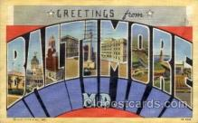 LLT100839 - Baltimore, Maryland Large Letter Town Towns Post Cards Postcards