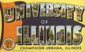 LLT100840 - University of Illinois, Champaign-Urbana, Illinois Large Letter Town Towns Post Cards Postcards
