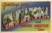 LLT100841 - Chattanooga, Tennessee Large Letter Town Towns Post Cards Postcards