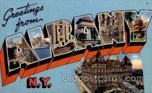 LLT100842 - Albany, New York Large Letter Town Towns Post Cards Postcards