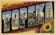 LLT100843 - Topeka, Kansas Large Letter Town Towns Post Cards Postcards