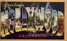 LLT100844 - Hollywood, California Large Letter Town Towns Post Cards Postcards