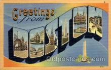 LLT100845 - Boston, Massachusetts Large Letter Town Towns Post Cards Postcards