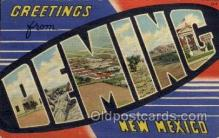 LLT100850 - Deming, New Mexico Large Letter Town Towns Post Cards Postcards