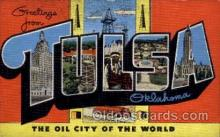 LLT100851 - Tulsa, Oklahoma Large Letter Town Towns Post Cards Postcards