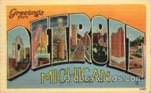 LLT100853 - Detroit, Michigan Large Letter Town Towns Post Cards Postcards