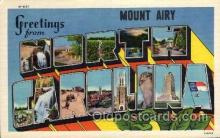 LLT100854 - Mount Airy, North Carolina Large Letter Town Towns Post Cards Postcards