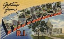 LLT100856 - Providence, Rhode Island Large Letter Town Towns Post Cards Postcards