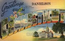 LLT100857 - Danielson, Connecticut Large Letter Town Towns Post Cards Postcards