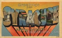 LLT100859 - Syracuse, New York Large Letter Town Towns Post Cards Postcards