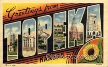 LLT100860 - Topeka, Kansas Large Letter Town Towns Post Cards Postcards