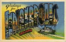 LLT100861 - Indianapolis, Indiana Large Letter Town Towns Post Cards Postcards