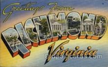 LLT100862 - Richmond, Virginia Large Letter Town Towns Post Cards Postcards