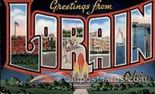 LLT100864 - Lorain, Ohio Large Letter Town Towns Post Cards Postcards