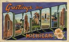LLT100868 - Detroit, Michigan Large Letter Town Towns Post Cards Postcards