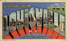 LLT100870 - Louisville, Kentucky Large Letter Town Towns Post Cards Postcards