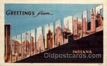 LLT100872 - Indianapolis, Indiana Large Letter Town Towns Post Cards Postcards