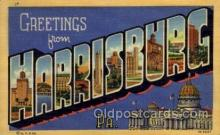 LLT100874 - Harrisburg, Pennsylvania Large Letter Town Towns Post Cards Postcards