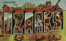 LLT100875 - The Ozarks Large Letter Town Towns Post Cards Postcards