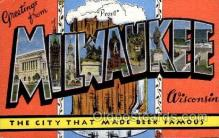 LLT100876 - Milwaukee, Wisconsin Large Letter Town Towns Post Cards Postcards