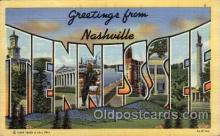 LLT100882 - Nashville, Tennessee Large Letter Town Towns Post Cards Postcards