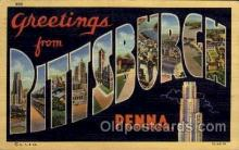LLT100884 - Pittsburgh, Pennsylvania Large Letter Town Towns Post Cards Postcards