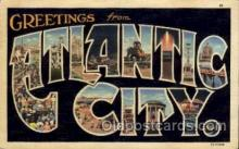 LLT100885 - Atlantic City, New Jersey Large Letter Town Towns Post Cards Postcards