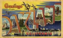 LLT100886 - Oakland, California Large Letter Town Towns Post Cards Postcards