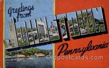 LLT100888 - Johnstown, Pennsylvania Large Letter Town Towns Post Cards Postcards