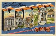 LLT100890 - Marion, Ohio Large Letter Town Towns Post Cards Postcards