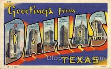 LLT100892 - Dallas, Texas Large Letter Town Towns Post Cards Postcards