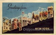 LLT100897 - Binghamton, New York Large Letter Town Towns Post Cards Postcards