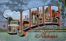 LLT100898 - Mobile, Alabama Large Letter Town Towns Post Cards Postcards