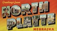 LLT100899 - North Platte, Nebraska Large Letter Town Towns Post Cards Postcards