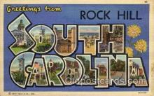 LLT100904 - Rock Hill, South Carolina Large Letter Town Towns Post Cards Postcards