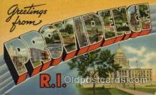 LLT100906 - Providence, Rhode Island Large Letter Town Towns Post Cards Postcards
