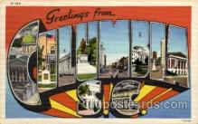 LLT100907 - Columbia, South Carolina Large Letter Town Towns Post Cards Postcards