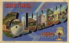 LLT100911 - Columbus, Ohio Large Letter Town Towns Post Cards Postcards