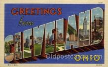 LLT100912 - Cleveland, Ohio Large Letter Town Towns Post Cards Postcards