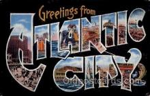 LLT100915 - Atlantic City, New Jersey Large Letter Town Towns Post Cards Postcards