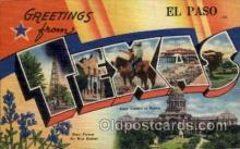 LLT100919 - El Paso, Texas Large Letter Town Towns Post Cards Postcards