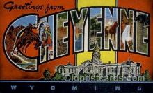 LLT100921 - Cheyenne, Wyoming Large Letter Town Towns Post Cards Postcards